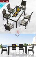 TF-9107 8pcs outdoor dining set/rattan dining set