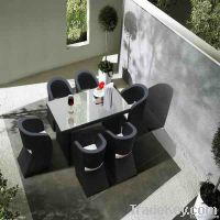 garden rattan dining table set