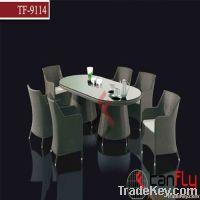 Luxury rattan table set