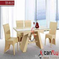 indoor & outdoor wicker dining table set