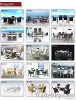 Patio wicker rattan garden table set