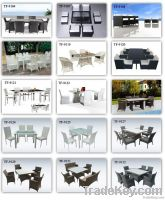 outdoor wicker table