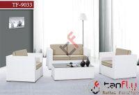 TF-9033 White rattan sofa set/patio wicker sofa set