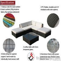 Garden rattan sofa furniture set