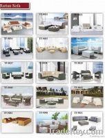 modern wicker rattan furniture sofa