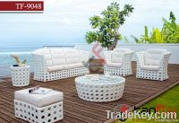 TF-9048 White PE rattan furniture