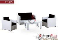 TF-9054Living white PE rattan furniture set