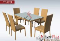 TF-9128Outdoor rattan/wicker dining chair and table