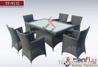TF-9132Luxury patio outdoor rattan dining set