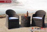 TF-9502 Round rattan/wicker outdoor sofa set