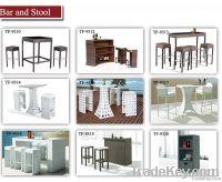 Wicker outdoor side cabinet