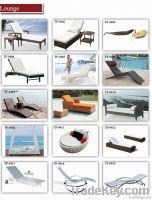 wicker rattan outdoor beach bed