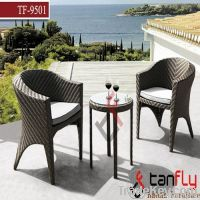 wicker outdoor bistro table set