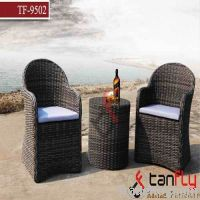 rattan side bar table set