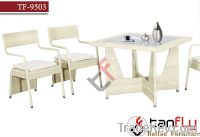 TF-9503 Luxury rattan garden dining chair and table