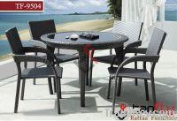 TF-9504 Patio wicker dining set/ garden rattan chair