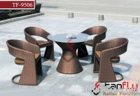 TF-9506 Patio wicker dining chair and table