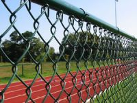 ASTM 392 heavily galvanized chain link fence with installing accessories with 366 grams zinc coating