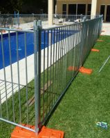 AS 4687 standard 2.4x2.1m size galvanized temporary fencing panels