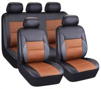 Universal Fit 9pcs Full Set PU leather Car Seat Cover, red ( Fit Most Car, Truck, or Van)