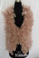feather fur vest