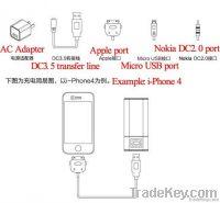 Power Bank charger station for ipad phone camera 6600mah