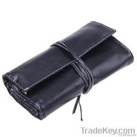 24 Pcs Makeup Brush Cosmetic set Kit with Black Leather Case