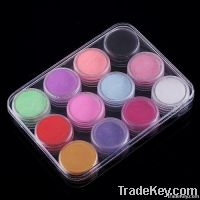 12 Color 3D Nail Art Acrylic Powder Manicure Nail Tips