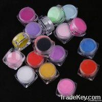 18 Color Acrylic Powder 3D Nail Art Manicure Nail Tips, Free Shipping