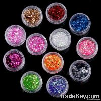 12 Colors Nail Art Decoration Sticker 2MM, Free Shipping