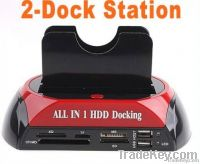 "2.5"" 3.5"" SATA/IDE HDD 2-Dock Docking Station e-SATA/Hub"
