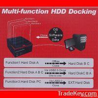 """2.5/3.5"""" 2x SATA 1x IDE HDD Docking Station Clone USB HUB"""