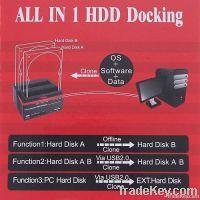 "2.5/3.5"" 2x SATA HDD Docking Station Clone eSata USB 2.0 HUB"