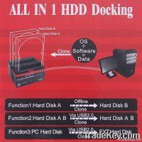 "2.5/3.5"" SATA IDE HDD Docking Station Clone USB 2.0 HUB"