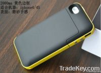 2000mah External Charger Battery Case for iphone 4 4G