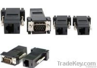 VGA Video Extender to CAT5 CAT6 RJ45 Cable Adapter