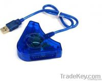Blue USB PS/2 Player Adapter USB to PS2/PS Player Convertor