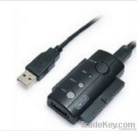 USB 2.0 IDE/SATA Adapter With One Touch Back