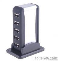 7-Port High-Speed USB 2.0 HUB Powered + AC Adapter