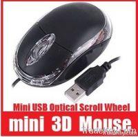 Mini USB Optical Scroll Wheel 3D Mice Mouse For PC Laptop