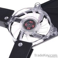 Rotatable USB Laptop Notebook 2 Fans Cooler Cooling Pad Black