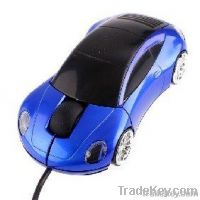 Blue Car Shape USB 3D Optical Mouse for PC / Laptop