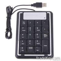 19 Keys Mini USB Numeric Number Keyboard Keypad for Laptap
