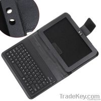 Wireless Bluetooth Keyboard + Leather Case Stand for Samsung Tablet