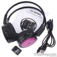 Headphones Earphones Stero Wireless Headphone FM SD/TF Music Player