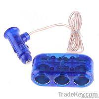 3-Way 12V Car Cigarette Socket car Adapter/ car Splitter/car Charger