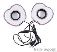 2-CH Mini Speaker for Laptop MP3 Phone PC, Apple-shaped, Red,