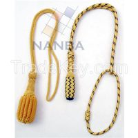 Uniform Aiguillette | Gold Wire Aiguillette | Silver Bullion Aiguillette