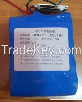 24V 12AH lifepo4 lithium iron phosphate electric bicycle battery