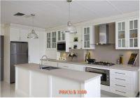 Kitchen Cabinet - white lacquer & melamine